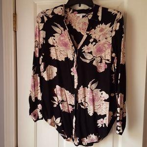 Candies black floral blouse